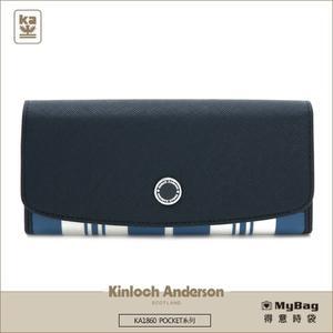 Kinloch Anderson 金安德森 皮夾 POCKET 掀蓋式長夾 深藍 KA186003NYF 得意時袋