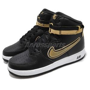 Nike 休閒鞋 Air Force 1 High 07 LV8 Sport AF1 黑 金 NBA LOGO 運動鞋 男鞋【PUMP306】 AV3938-001