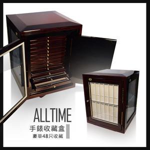 完全計時│尊爵精緻原木鋼琴烤漆錶盒 豪華大容量 48只手錶+13格抽屜 手錶收藏盒 LG9
