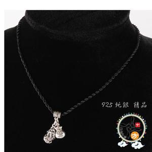 貔貅+福袋(925純銀)項鍊55 【十方佛教文物】