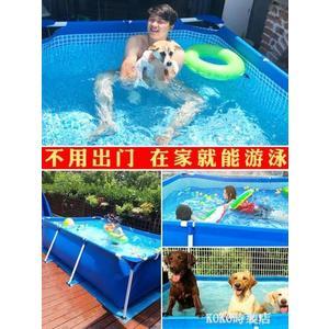 超大號兒童家用加厚游泳池支架養魚池寵物水池嬰兒泳池狗狗游泳池 ATF KOKO時裝店