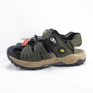 LOTTO 排水護趾涼鞋 男款 磁扣 反光 拖涼鞋兩穿 LT0AMS1630 軍綠【iSport愛運動】