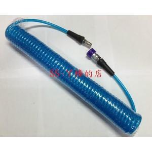 PU夾紗伸縮管附專業級鐵製快速接頭/風管/ 空壓管/ 5*8mm*15米-爆破壓力700PSI