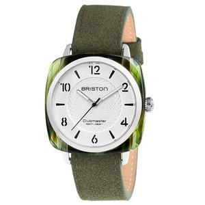 【萬年鐘錶】BRISTON  法國時尚 錶框  綠皮帶 18536-SA-GE-2G-LNGA