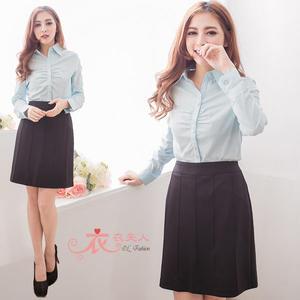 *衣衣夫人OL服飾店*【N2915】直線造型西裝短裙(黑)