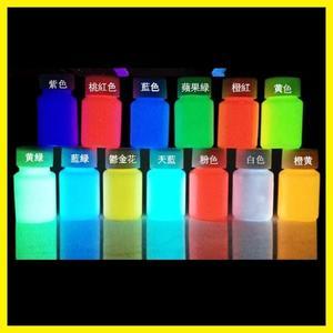 DIY熒光粉超亮夜光粉制夜光漆水性顏料夜光液防水熒光涂料永久