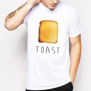 Toast短袖T恤-白色 吐司 麵包 早餐 食物 奶油 設計 自創 品牌 早餐Gildan 490