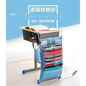 書桌收納 大容量書桌掛袋 掛書袋 文具書籍報紙收納 水壺保溫瓶放置 學校 補習班 安親班