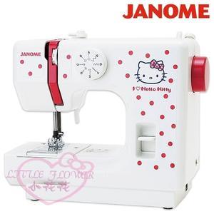 ♥小花花日本精品♥hello kitty 凱蒂貓 Janome 縫紉機裁縫機 居家生活裁縫衣 紅點款 56879803