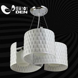 北歐極簡風格  白色風向球金屬3燈吊燈 【燈巢1+1】燈具。燈飾。Led居家照明。桌立燈  02035904