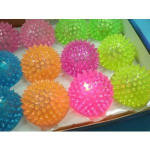 按摩球發光球 LED彈力球 【一箱12個入】 安全發光球 LED玩具球(空心.閃光) 直徑約7cm 促[#39]