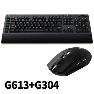 Logitech 羅技 G613無線機械式遊戲鍵盤/USB(黑)+G304 無線電競滑鼠(黑)