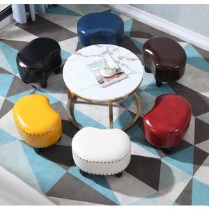 矮凳美式實木皮凳子沙發凳家用客廳茶幾小板凳KTV試衣間凳子時尚 創意LX 【免運】