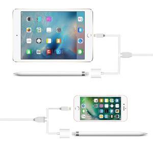 【妞妞♥3C】APPLE Pencil 二合一 延長線 充電線 lightning USB to 公 母延長線 iPad