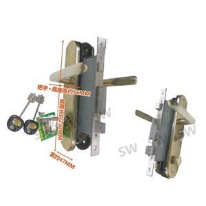 ML-S5057-22金冠五段連體鎖(鈦金) 五段鎖 匣式鎖 葫蘆鎖心 卡巴鑰匙 嵌入式連體鎖 水平鎖 面板鎖