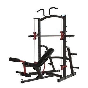 深蹲架 家用杠鈴套裝史密斯機臥推架多功能舉重床龍門架健身訓練 薇薇MKS