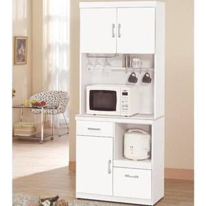 櫥櫃 餐櫃 QW-938-4 祖迪白色2.7尺石面單門碗碟櫃(上+下)【大眾家居舘】