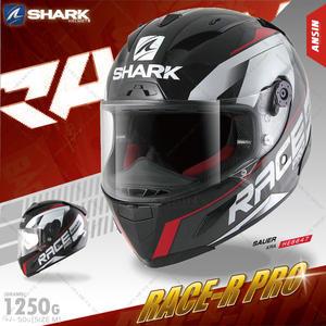 [中壢安信]SHARK Race-R Pro Sauer 黑白紅 全罩 安全帽 內襯可拆洗 頂級