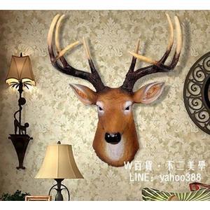 鹿頭模型 創意壁飾復古酒吧牆面裝飾歐式鹿頭壁掛