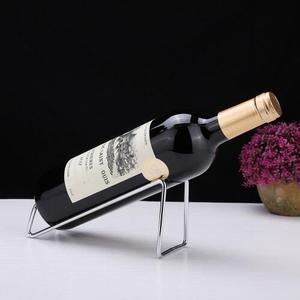 不鏽鋼簡約紅酒架紅酒架擺件創意展示架酒瓶架家用歐式紅酒架 【限時八五折】