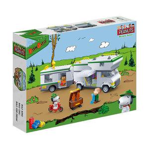 史努比系列 NO.7513快樂露營車 SNOOPY正版授權 附起丁器(樂高Lego通用)【BanBao邦寶積木楚崴】