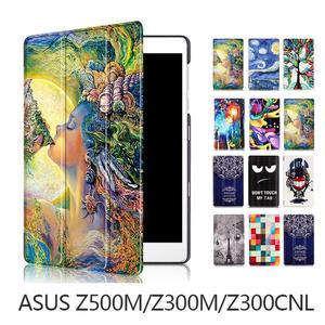 華碩 ASUS ZenPad 3S 10 皮套 Z500M Z301MFL Z300M CNL 保護套 彩繪 超薄 三折 支架 平板皮套 卡斯特紋