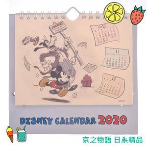 【京之物語】日本迪士尼2020復古米奇米妮立體感桌上型月曆 桌曆 日曆(預購)