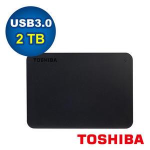 全新 Toshiba Canvio Basics 黑靚潮III 2TB 2.5吋行動硬碟