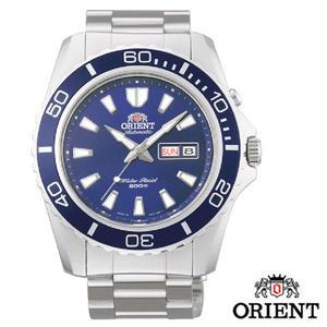 東方錶 ORIENT 藍水鬼鎖牙200米潛水機械錶 45mm 藍 公司貨 FEM75002D | 名人鐘錶高雄門市