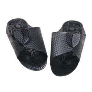 輕便飛機腳底按摩拖鞋-黑色(M)