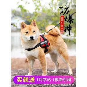 狗狗胸背帶大型中型小型犬牽引繩背心式寵物用品狗帶狗鏈子遛狗繩