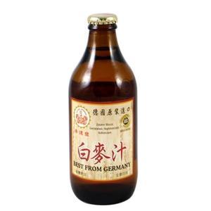 崇德發 天然白麥汁 玻璃瓶 330mlx24瓶/箱