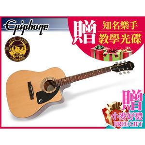 【小麥老師 樂器館】現貨!贈12項~ Epiphone AJ-100CE 電木吉他 木吉他 吉他 民謠吉他 AJ100CE