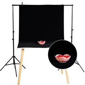 拍照背景布攝影黑絨布拍攝道具攝影棚純色白黑色吸光植絨布不反光【美物居家館】
