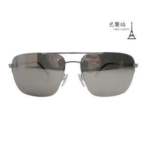 【巴黎站二手名牌專賣店】*現貨*Ermenegildo Zegna真品*反光鏡面銀邊墨鏡太陽眼鏡