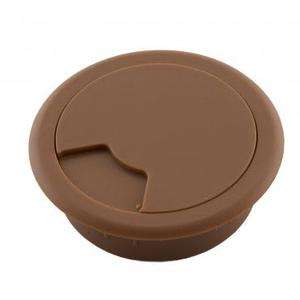 54mm棕色書桌出線孔蓋2入