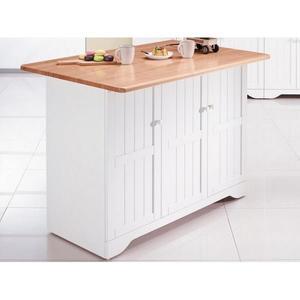 櫥櫃 餐櫃 AM-493-1 葛妮絲原木色中島雙面收納櫃【大眾家居舘】