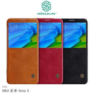 NILLKIN MIUI 紅米 Note 5 秦系列皮套 智能休眠 皮革開窗保護套 手機套