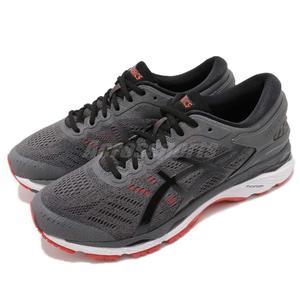【六折特賣】Asics 慢跑鞋 Gel-Kayano 24 4E 超寬楦頭 灰 紅 高支撐系列 運動鞋 男鞋【PUMP306】T7A1N-9590