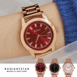 韓國GUOU相約時光金屬鍊帶手錶【WGU6005】璀璨之星☆