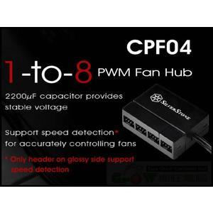 [地瓜球@] 銀欣 SilverStone CPF04 1轉8 PWM風扇 擴充轉接座 集線器