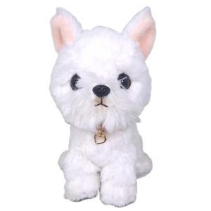 日本PUPS可愛玩偶西高地白梗犬仿真小狗絨毛娃娃公仔毛絨玩具狗聖誕節禮物生日禮物送禮兒童小孩