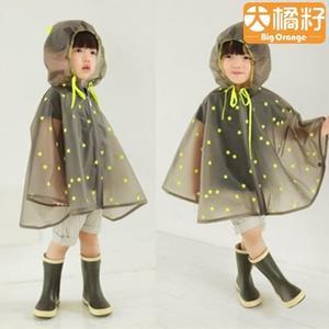 兒童男童女童雨衣雨披防水斗蓬式【聚寶屋】