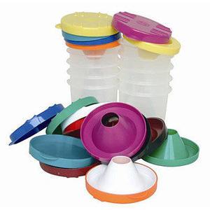 【台灣製USL遊思樂】防溢出水彩洗筆杯 / 防溢出水彩容器(10色,10pcs) / 袋