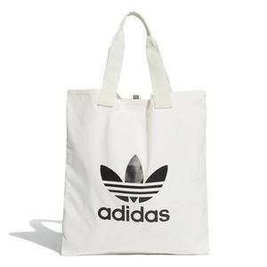 【折後$800】◆adidas Trefoil Shopper bag 側背包 購物袋 休閒 棉質帆布 白 DX2047