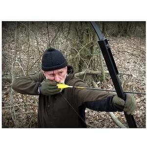 鏤空折疊弓  射箭反曲弓弓箭  獵弓 直拉弓 防身狩獵打獵【藍星居家】