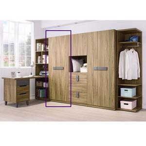 【森可家居】佛羅倫斯2.5尺雙吊衣櫥(單只)  7HY86-3 衣櫃 木紋質感 衣物收納