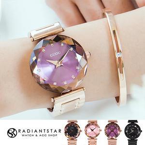 韓國GUOU繁華綺麗鑽石切面鍊帶手錶【WGU8209】璀璨之星☆