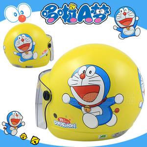 【KK  兒童帽 哆啦A夢 04 小叮噹 黃 兒童 安全帽 】3/4罩、附鏡片