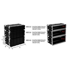 凱傑樂器 STANDER ABS-2U 塑鋼箱 機櫃 提箱 瑞克箱